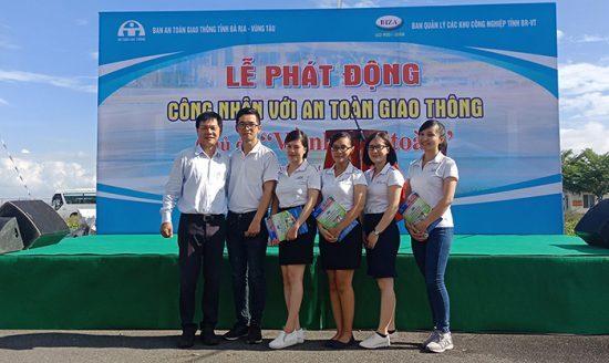 Công ty LDT tham dự lễ phát động Công nhân với an toàn giao thông