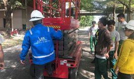 LDT đào tạo SCN vận hành xe nâng người cho Công ty Dongwha