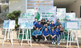 Đoàn viên thanh niên LDT tham gia chương trình chống rác thải nhựa