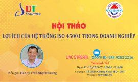 Hội thảo Lợi ích của hệ thống ISO 45001 trong doanh nghiệp