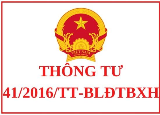 Thông tư 41/2016/TT-BLĐTBXH
