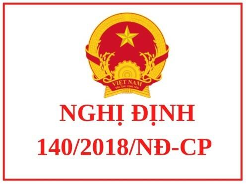 Nghị định 140/2018/NĐ-CP